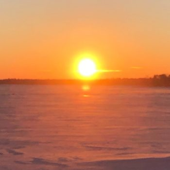 Water & Wastewater Servicing Feasibility Study - frozen lake at sunset