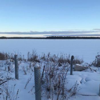 View of a frozen lake